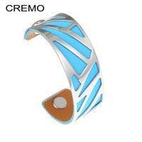 Cremo Ribbon Arm Bangles Stainless Steel Bracelets Geometric...