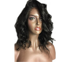 Brazilian hair short natural wave wigs 10- 14inch Lace Front ...