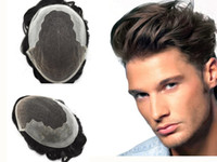 Lace Mens Toupee Human Hair Men Wigs Mono French Lace Front ...