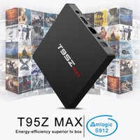 Nuovo T95Z MAX Octa Core Amlogic S912 box tv iptv Dual band WiFi Bluetooth Media Player Android 7.1 Smart TV Box VS T95Z PLUS H96 PRO