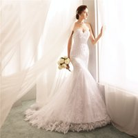Fitted Sweetheart Applique Plus Size Bridal Gowns Vintage Me...