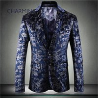 Mens suit fashion, high- grade hot stamping fabric, gentleman...