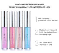 HANDAIYAN Collection de brillants à lèvres 6 pièces Moistarize Mermaid Mermaid LipGloss Crystal Cream Glaze Set 2.3ML * 6 Maquillage