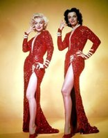 Marilyn Monroe Evening Dresses Vintage Sparkly Burgundy Sequ...