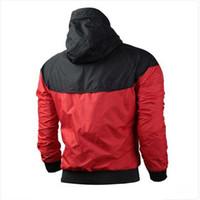 Delle donne degli uomini del cappotto del rivestimento degli uomini casuali a maniche lunghe autunno Felpa con cappuccio Sport Zipper giacca a vento attivi Mens vestiti più il formato S-3XL