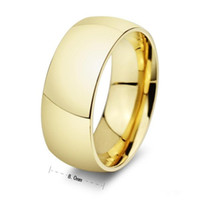 Wholesale Never Fading Classic Wedding Rings 8mm Yellow Gold...