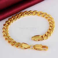 2018 18k gold plated fashion snake chain Bracelets for men w...