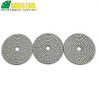 """SHDIATOOL Diámetro 100 mm / 4 """"Almohadillas de pulido de diamante de 3 pasos de primera calidad Discos de lijado con enlace de resina de alta calidad Para mármol de piedra"""