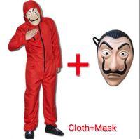 Salvador Dali La Casa De Papel Geld Überfall Cos Jumpsuit Mask Cosplay Kostüm