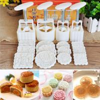 16pcs Moon Cake Fandant Decoration Mould 12Pcs Petals Templates 4pcs Moon Cake Mould Round Square Baking Pastry Tools Mayitr