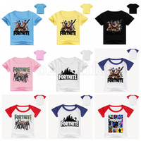 Kids Fortnite Casual Short Sleeve T Shirt 54 Styles Cartoon ...