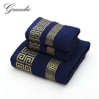 Set de serviette 100% coton pour salle de bain 2 serviette faciale à la main 1 baignoire pour adultes 3 couleurs solides Terry de gant de toilette Sports serviettes de voyage