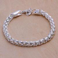 Fine 925 Sterling Silber Armband, Weihnachten Neue Stil 925 Silber Kette Klassische Armband Für Frauen Männer Modeschmuck Geschenk Link Italien Perking H70