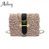 0429b78a7a Aelicy Luxury Small Designer Chain Women Bag Women Leather Messenger Bags  Felt Crossbody Bag Soft Fake Designer Handbags