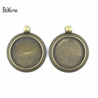 BoYuTe (30 Pieces Lot) 25MM Cabochon Base Antique Bronze Pla...