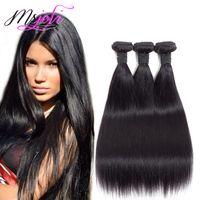 Indian Virgin Cheveux raides 4 Bundles 30 pouces 8A Indian cheveux raides non transformés Weave Bundles 100% indien droit prolongements de cheveux humains