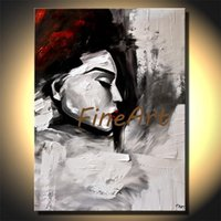 large canvas modern art woman canvas painting contemporary a...