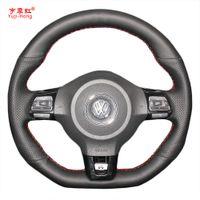 Yuji-Hong Araba Direksiyon VW Golf 6 için Kılıf Kapakları GTI MK6 VW Polo GTI Scirocco R Passat CC R-Line 2010 Suni Deri
