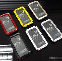알루미늄 유리 충격 방지 삼성 갤럭시 S20 S10 참고 9 8 S9 플러스 S8 플러스 파워 고릴라 보호 전화 하이브리드 커버 방수 케이스