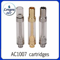 AC1007 Cartridges 0. 5ml 1. 0ml Gold Ceramic Coil Pyrex Glass ...