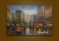 hand painted oil paintings discount impression paris street ...