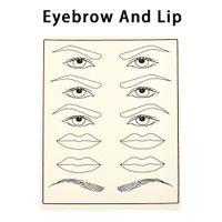 2 stücke Kosmetische Permanent Makeup Augenbraue Tattoo Praxis Haut Versorgung gefälschte augenbraue tattoo praxis haut für microblading