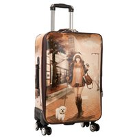 Women Girls Rolling Luggage Spinner 28 inch large capacity S...
