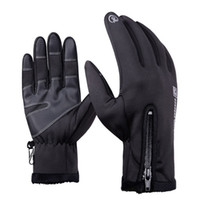 Winter-Touchscreen-Handschuhe für Frauen Männer, wasserdicht winddicht Outdoor-Handschuhe Sport Warm Black Tactical Gloves Military Guantes
