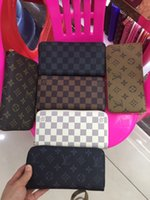 Hot zipper wallet high quality polyurethane leather fashion ...
