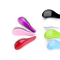 7 Farben Dusche magischen Haar, Haarbürste Kamm Tangle Haarpflege Salon Detangling Comb PVC Hausgebrauch zu wählen