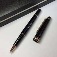 New 163 golden Luxury BLACK Lacquerred rollerball pen classi...