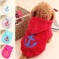 Idepet Fleece Puppy Dog Clothes Cute Vanchor Hoodie Coat Win...