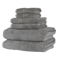 Home Towel Set Grey Pure Cotton 1 Bath Towel1 Hand and 1 Was...