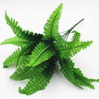 زهرة اصطناعية يترك النباتات جميلة وهمية واقعية البلاستيك الفارسي العشب lysimachia السرخس الزهور الديكور شحن مجاني