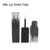 Gradient Black Square Liquid Lip Gloss Tube Empty DIY Handwo...