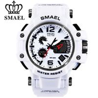 SMAEL Marque Hommes Quartz Numérique Montre de Sport Montres Hommes S Choc Mâle Horloge Relogios Masculino LED 30 M Étanche Montres