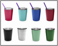 8OZ Wine Glasses 304 Stainless Steel Thermos with Lid Straw ...