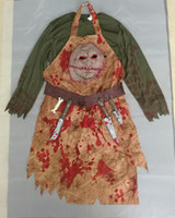Costumi Costumi di Halloween per adulti Uomini Terrore Bloody Butcher Costume Carnaval Man's Chef Festival Cosplay Abiti di Halloween