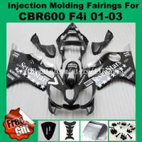 Carenados de moldeo por inyección para HONDA CBR600F4i CBR600RR F4i 01 02 03 CBR 600 F4i CBR 600F4i 2001 2002 2003 Kits de carenado negro 7stars # 52l-81