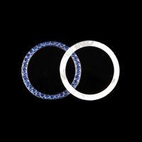 1 Pcs De Mode SUV Bling Pratique De Voiture Décoratif Bleu Bouton Démarrer Commutateur Bague De Diamant Auto Accessoires