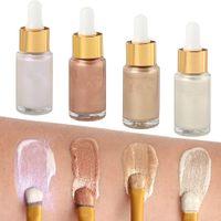 Водостойкая подсветка для лица частная марка косметика для макияжа 4 цвета жидкая подсветка для макияжа Жидкая основа для лица Highlighter Bronzer