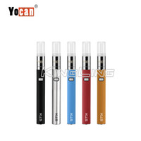 Authenic Yocan Stix Vape Pen Portable Vaporisateur Stylo Kits de Démarreur Tension Variable 320 mAh VV Batteries En Céramique Bobine pour La Conception Anti-Fuite