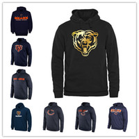 Chicago Bears Sideline Circuit Orange Trainingspullover Pro Line Schwarz Gold Collection Pullover Druck Hoodies