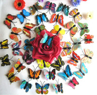 Yapay 3D Kelebek Buzdolabı Mıknatısı Sticker Buzdolabı Mıknatısları Yaratıcı Moda Ev Dekorasyon LX3841