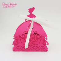 Bride Laser Cut Wedding Favors Box Candy Box Princess Gift F...