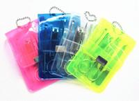 أدوات العناية بالأظافر في الحقيبة البلاستيكية المحمولة S / S مانيكير باديكير مجموعة أدوات تقليم الأظافر