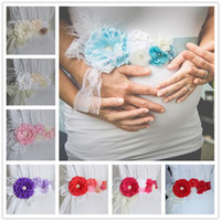 8 colors Maternity Sash 5cmx2m flower rhinestone imitation p...