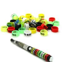 10 unids Ecig bandas de silicona 13mm anillo vape para ego serie baterías decorativas y resistencia a la protección vape bandas