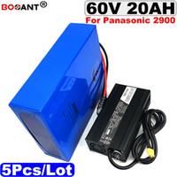 5 teile / los E-bike batterie 60 v 20 Ah Für Panasonic 18650 zelle mit 5A ladegerät 60 V elektrische fahrrad lithium-ionen akku 2000 Watt