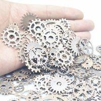 Regalo de Navidad 100g mezcla de aleación de engranajes de Steampunk joyería de bricolaje accesorios encantos engranajes rueda del diente colgante pulsera apta DIY accesorios de joyería